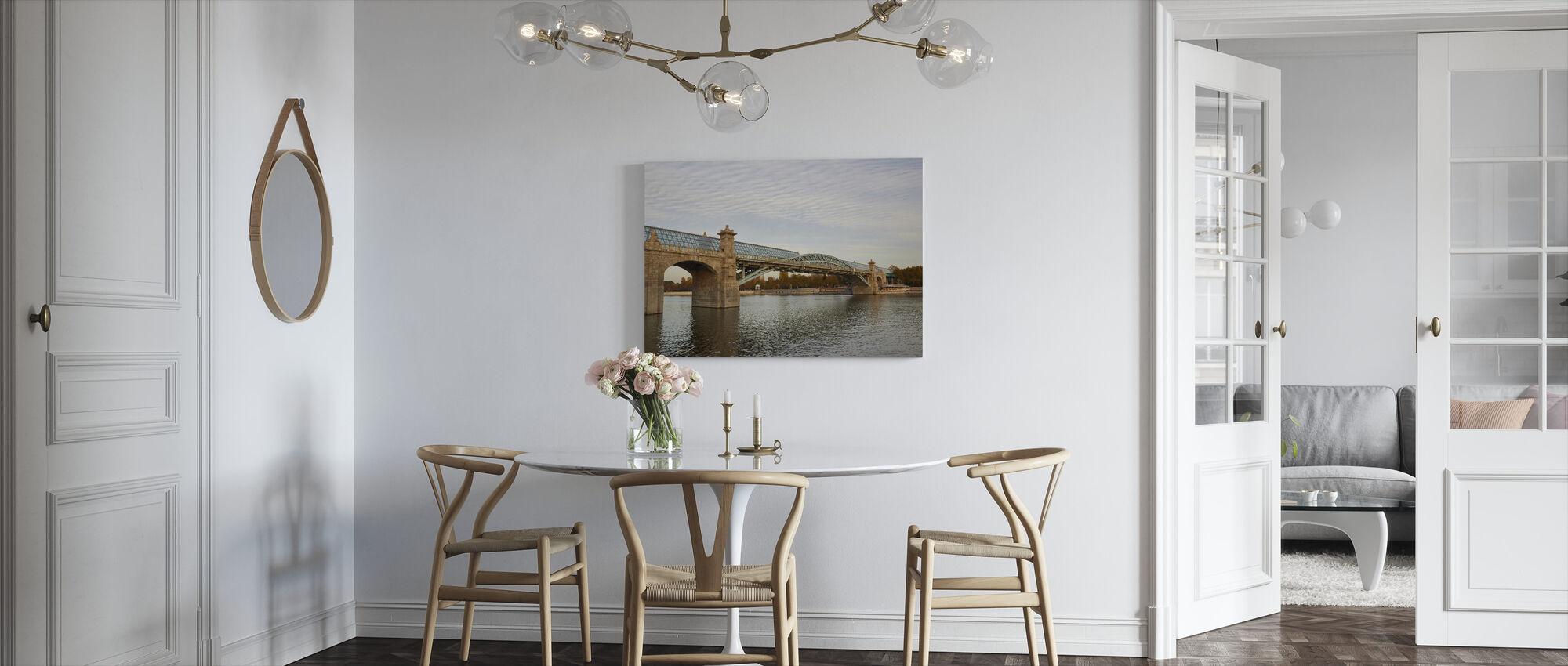 Pushkinsky Bridge, Moscow - Canvas print - Kitchen