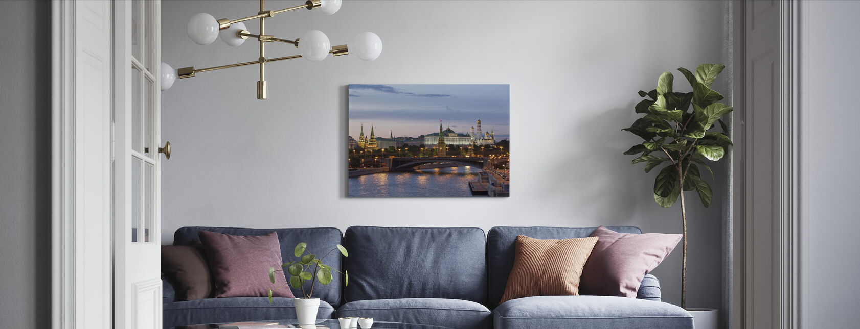 Heart of Moscow - Canvas print - Living Room