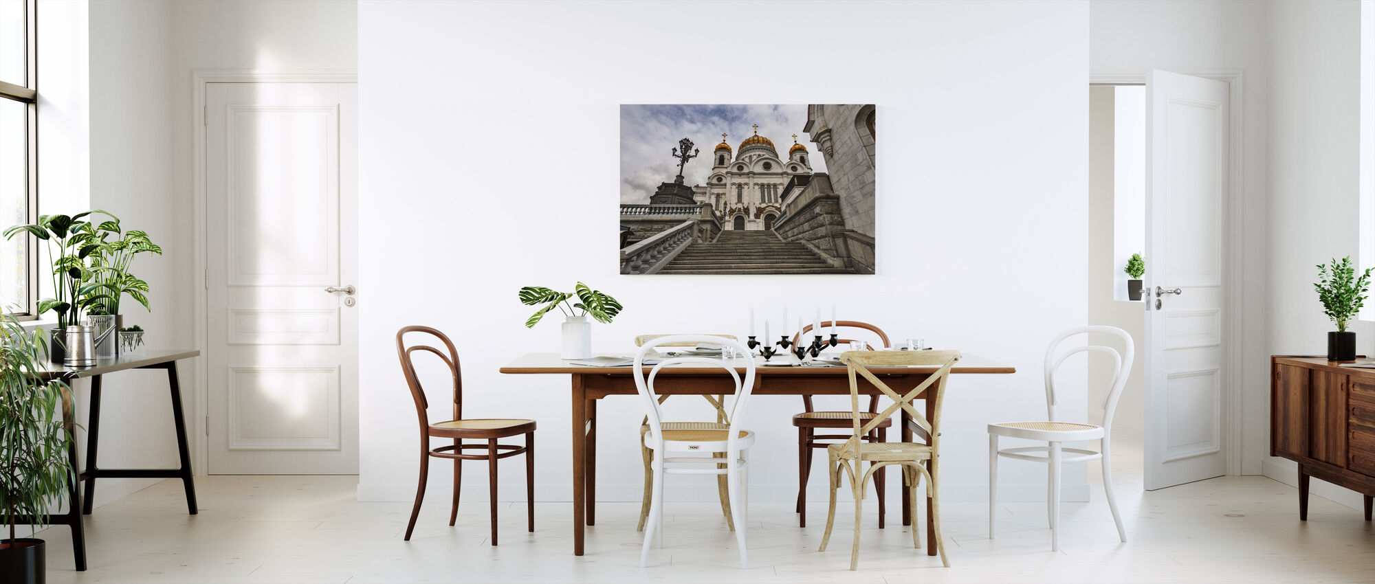 In front of the Cathedral of Christ the Saviour - Canvas print - Kitchen
