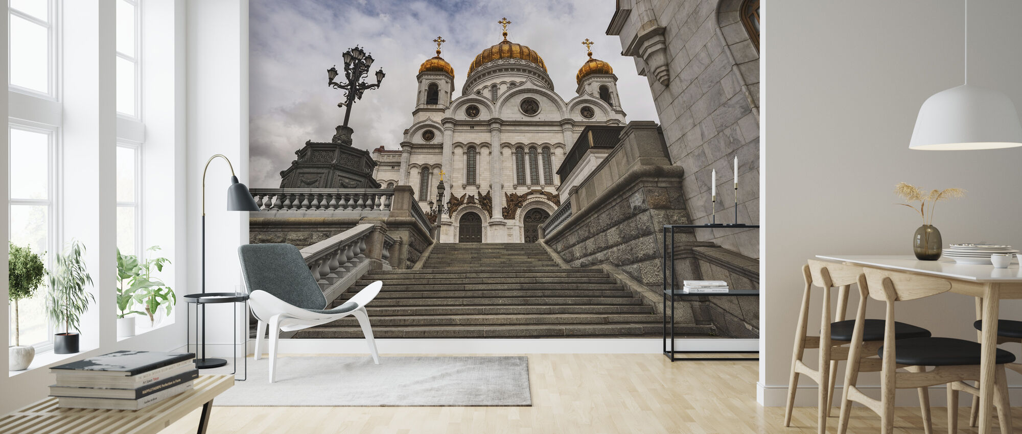 In front of the Cathedral of Christ the Saviour - Wallpaper - Living Room