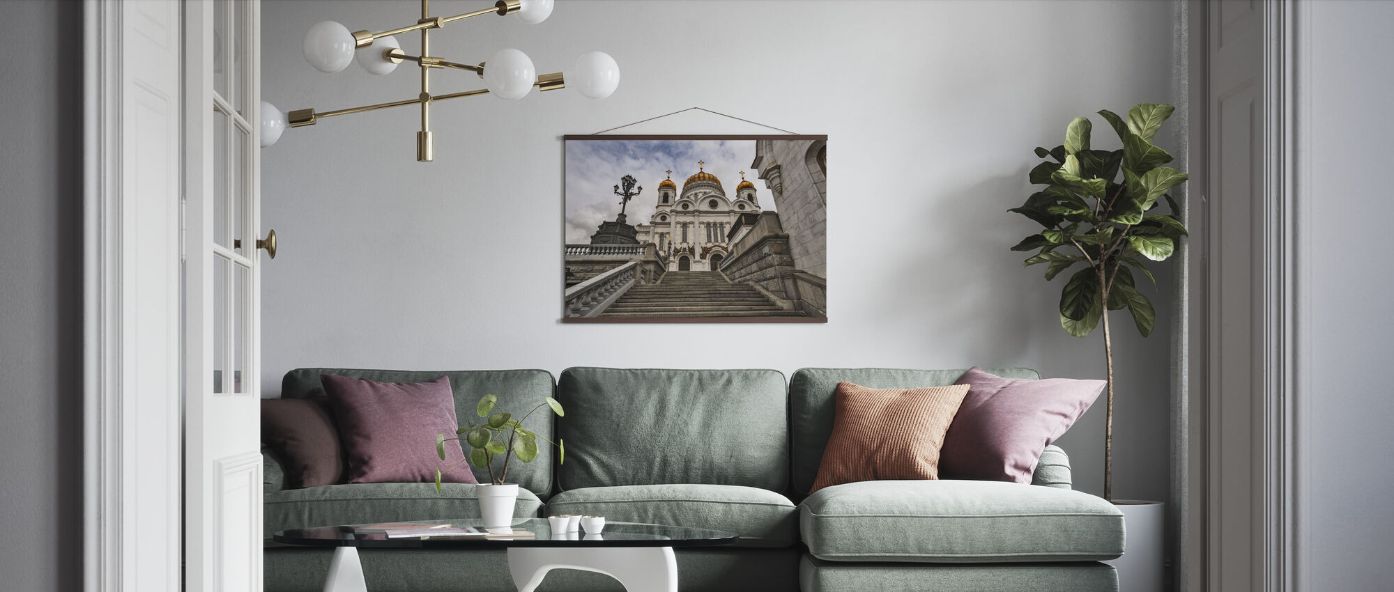 In front of the Cathedral of Christ the Saviour - Poster - Living Room