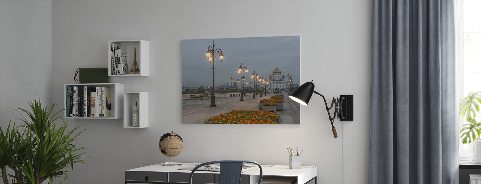 Verlichting naar Christus de Verlosser Kathedraal - Canvas print - Kantoor