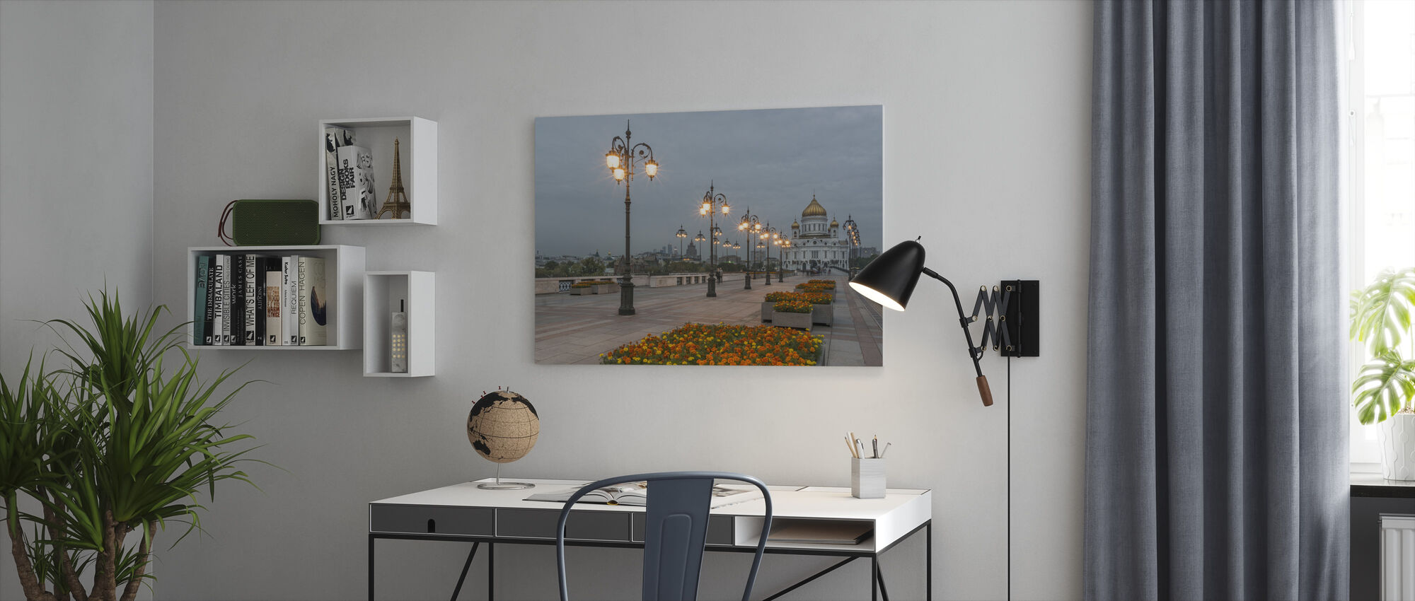 Lights to Christ the Saviour Cathedral - Canvas print - Office