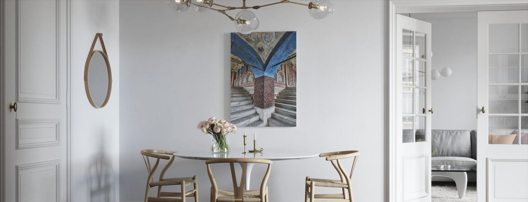 Steps inside Saint Basil's Cathedral - Canvas print - Kitchen