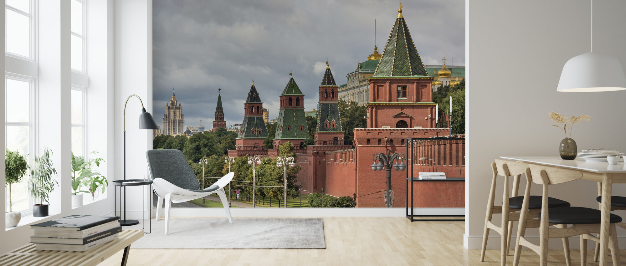 The Fortified Walls of Moscow Kremlin - Wallpaper - Living Room