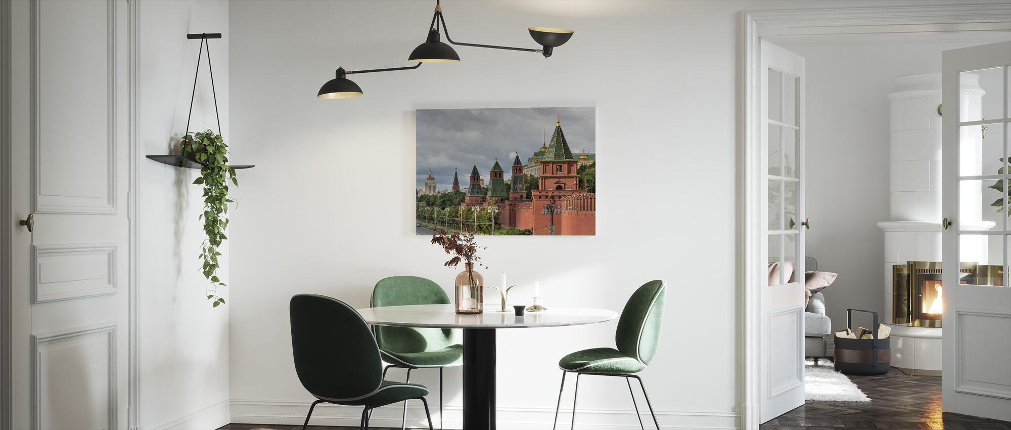 The Fortified Walls of Moscow Kremlin - Canvas print - Kitchen