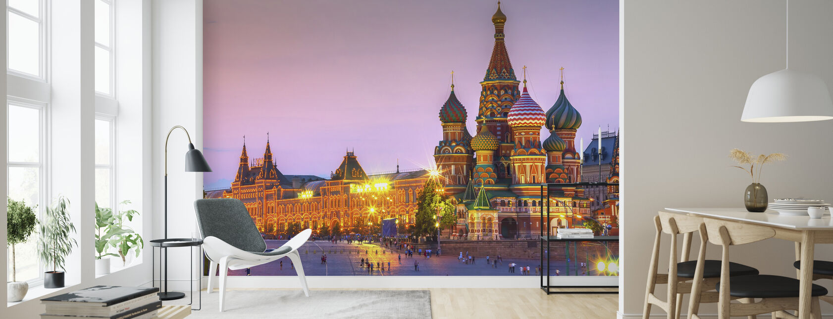 Twilight time of Saint Basils Cathedral - Wallpaper - Living Room