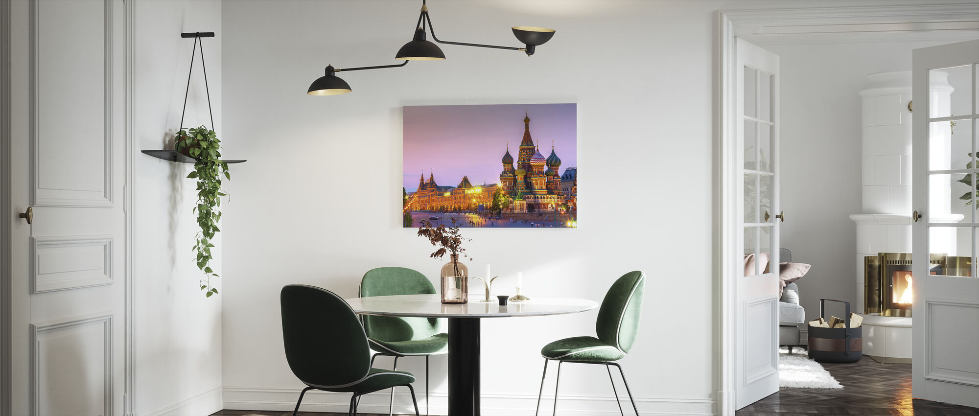Twilight time of Saint Basils Cathedral - Canvas print - Kitchen