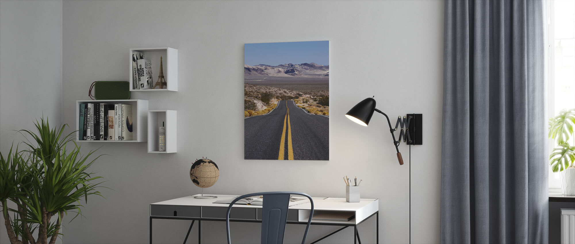 Death Valley Highway - Canvas print - Office