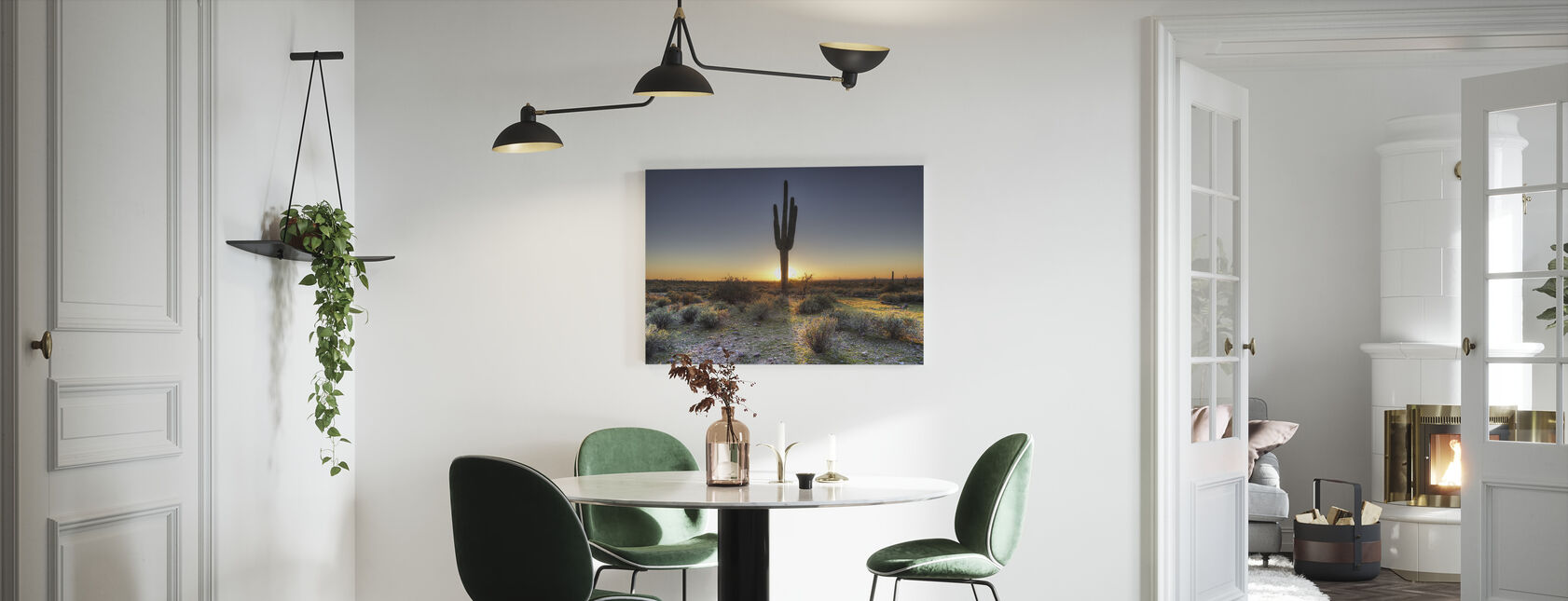 Wüstensonnenuntergang - Leinwandbild - Küchen