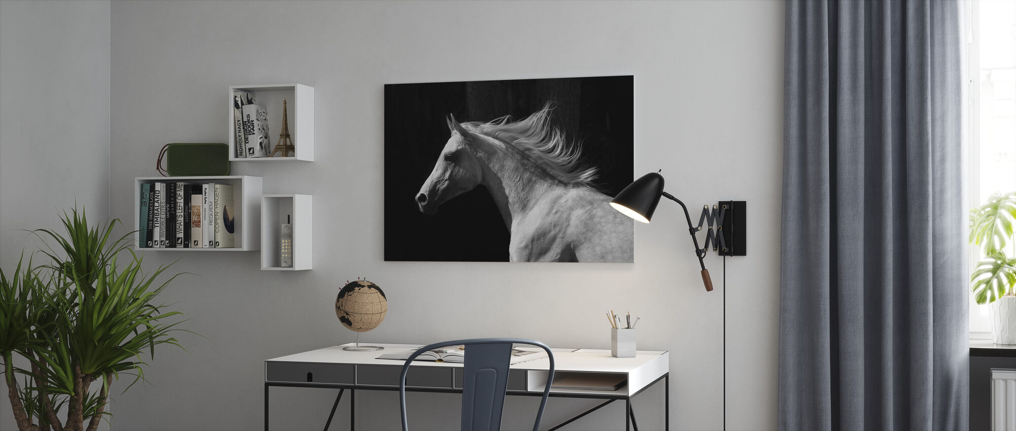 Gray Arab Stallion - Canvas print - Office