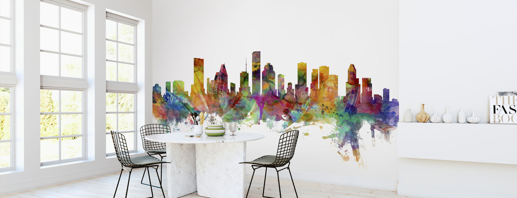 Houston Texas Skyline - Wallpaper - Kitchen