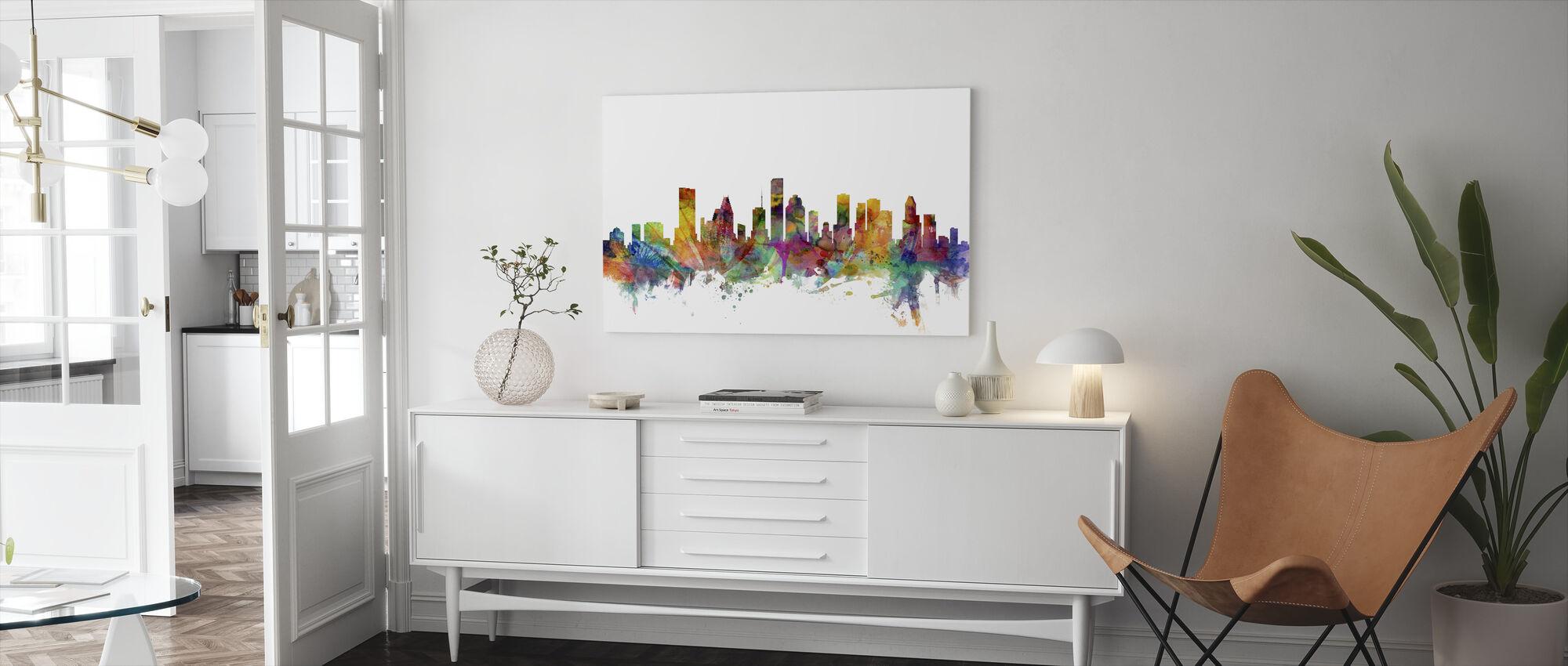 Houston Texas Skyline - Canvas print - Living Room