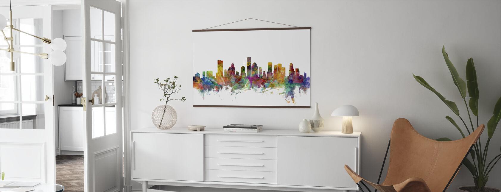 Houston Texas Skyline - Poster - Living Room