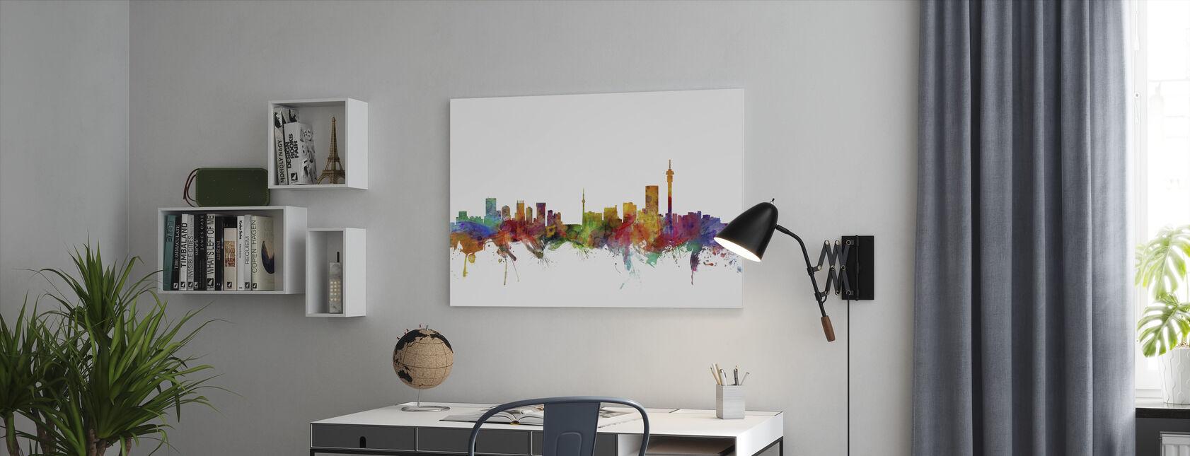 Johannesburg Etelä-Afrikka Skyline - Canvastaulu - Toimisto