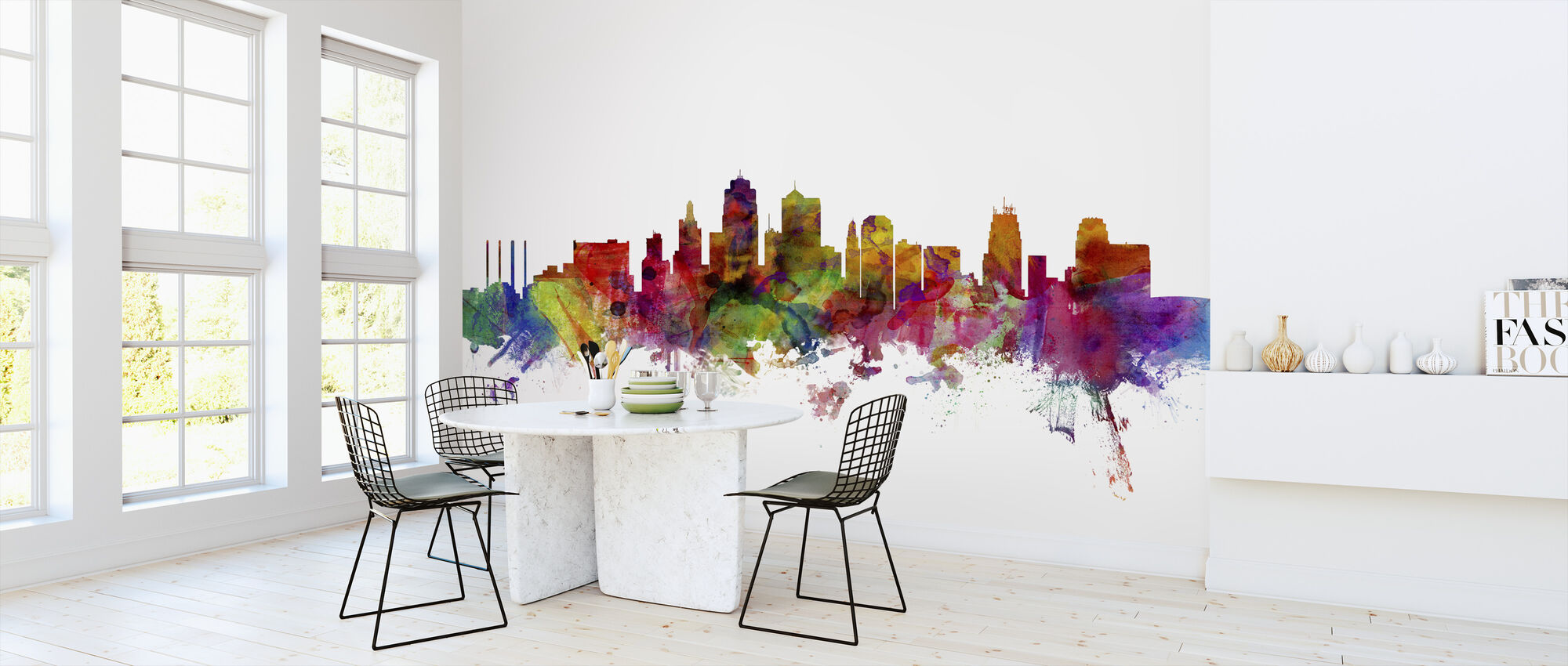 Kansas City Skyline - Wallpaper - Kitchen