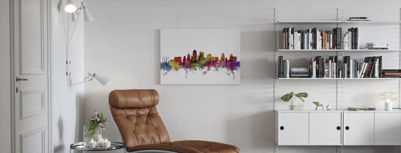 Kansas City Skyline - Billede på lærred - Stue