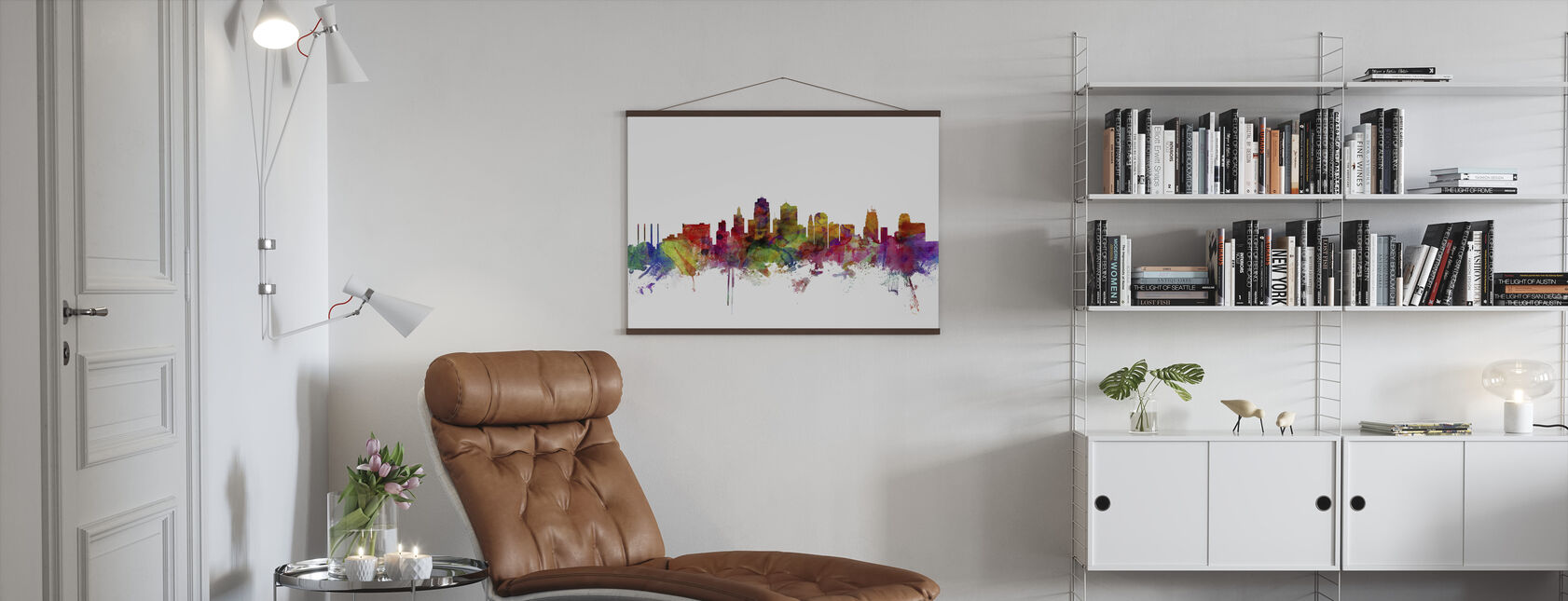 Kansas City Skyline - Poster - Living Room