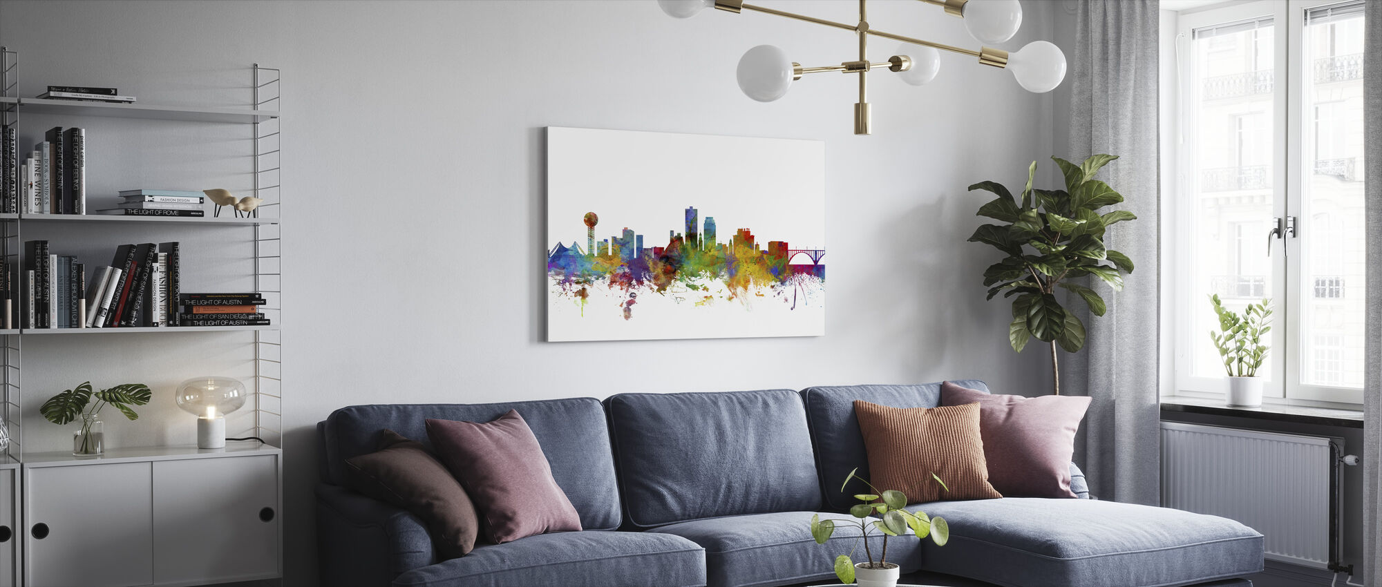 Knoxville Tennessee Skyline - Canvas print - Living Room