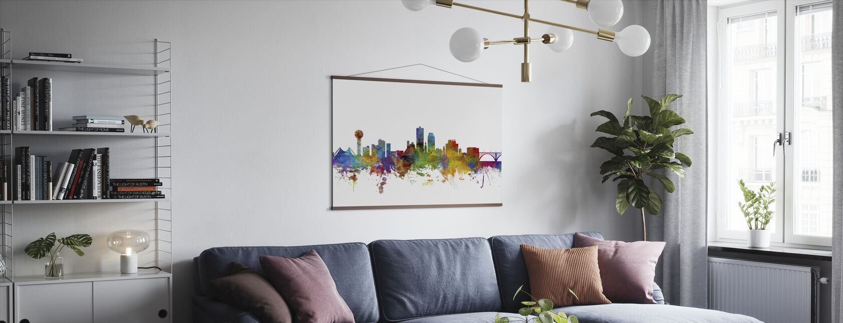 Knoxville Tennessee Skyline - Poster - Living Room