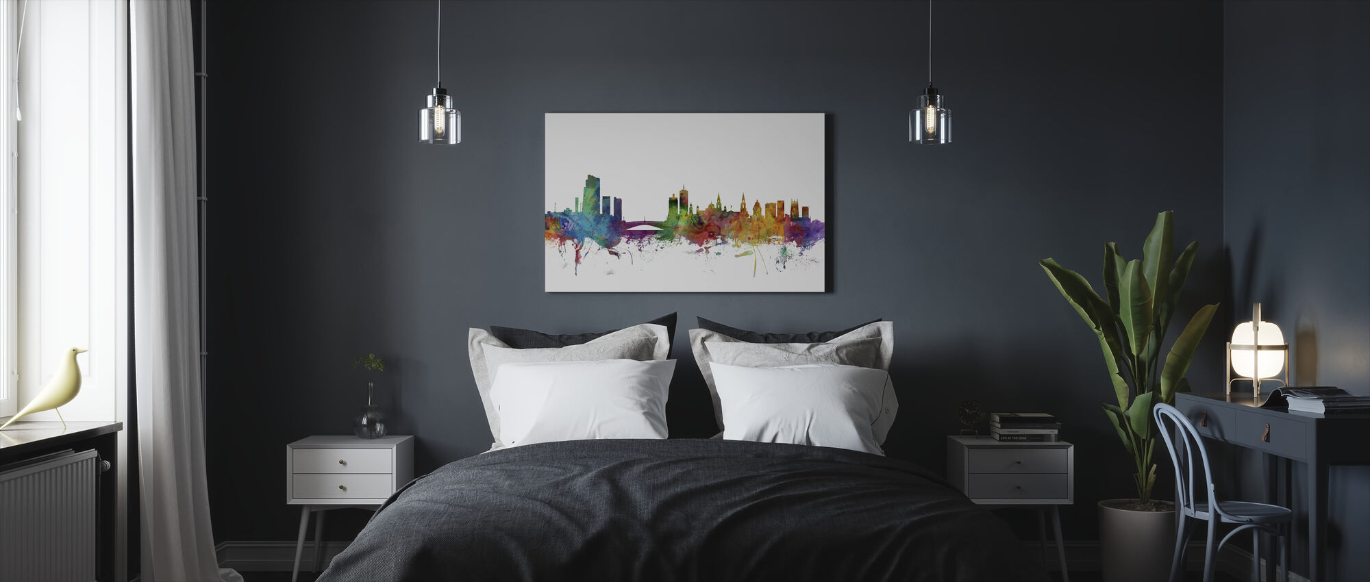 Leeds England Skyline - Canvas print - Bedroom