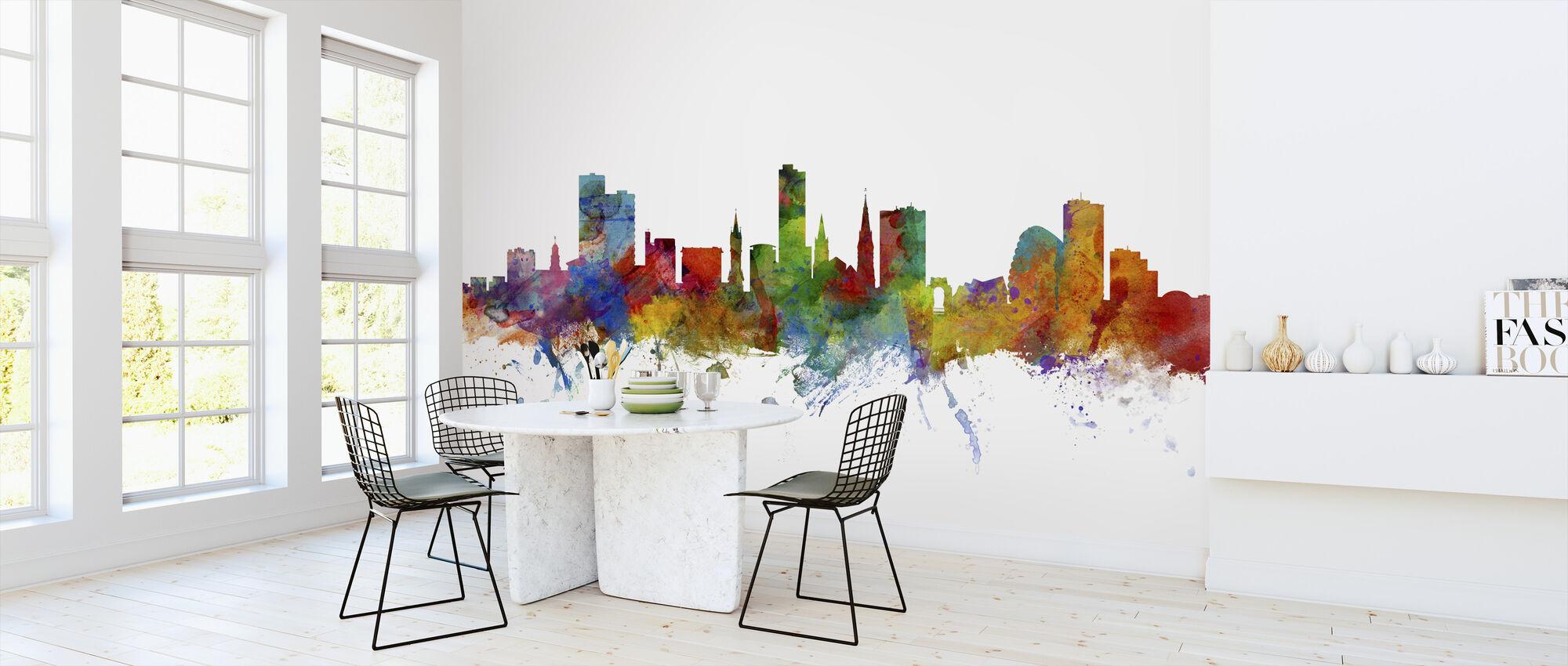 Leicester England Skyline - Wallpaper - Kitchen