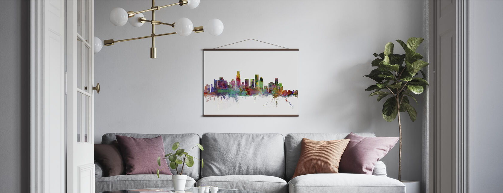 Los Angeles Skyline - Poster - Living Room