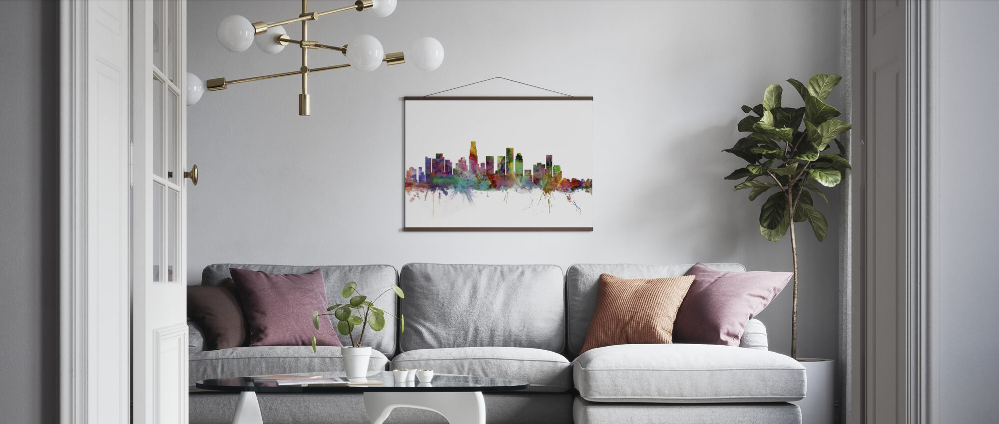 Los Angeles Skyline - Plakat - Stue