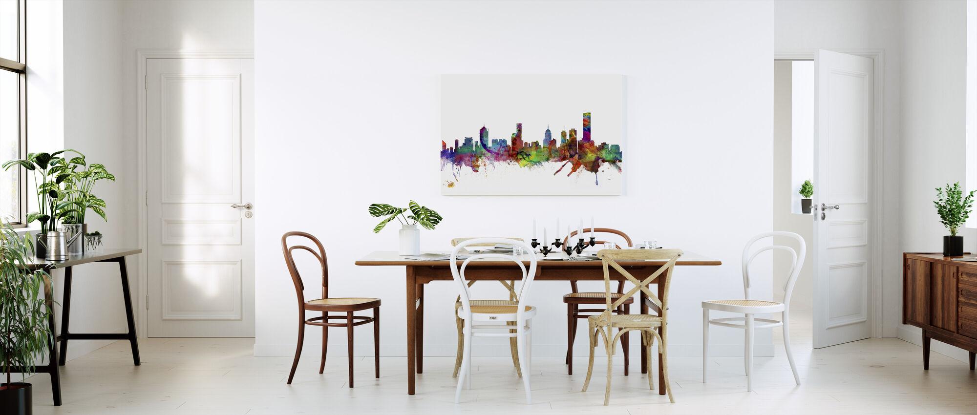 Melbourne Skyline - Canvas print - Keuken