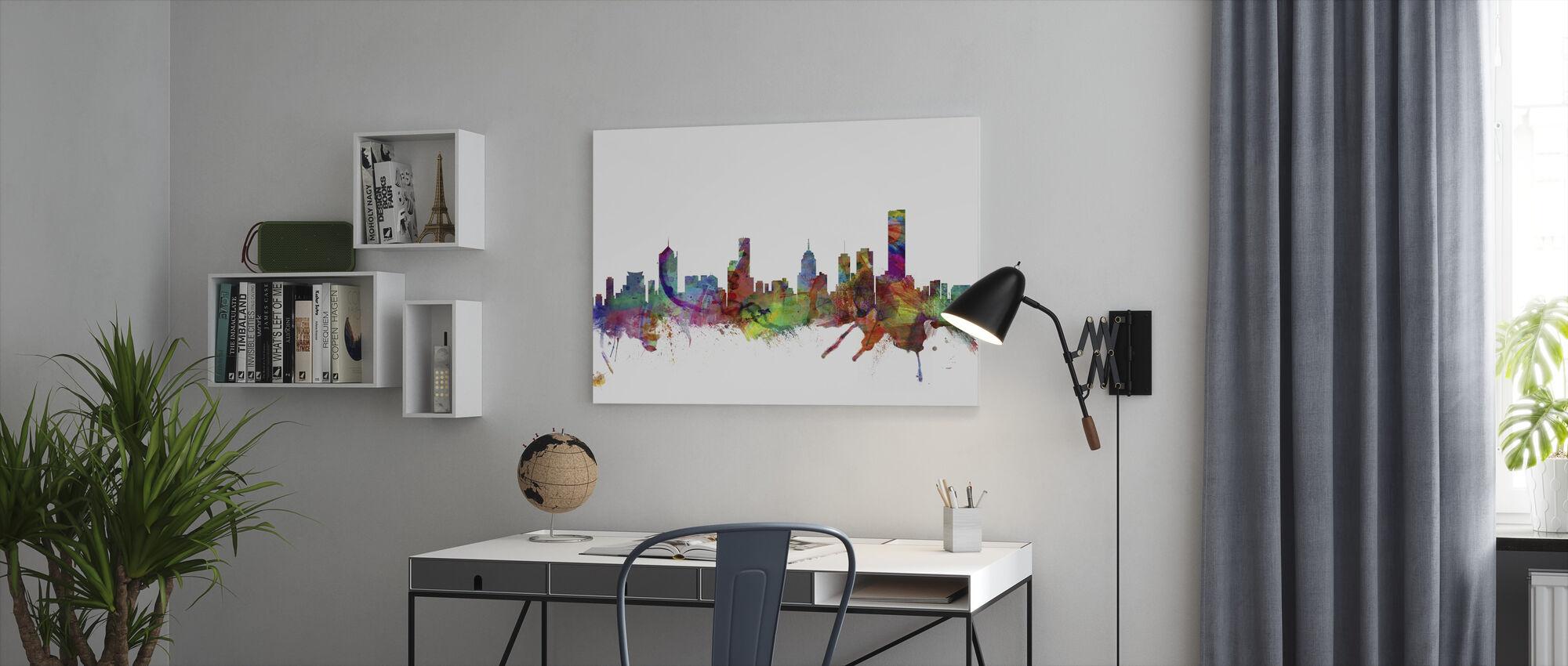 Melbourne Skyline - Canvas print - Office