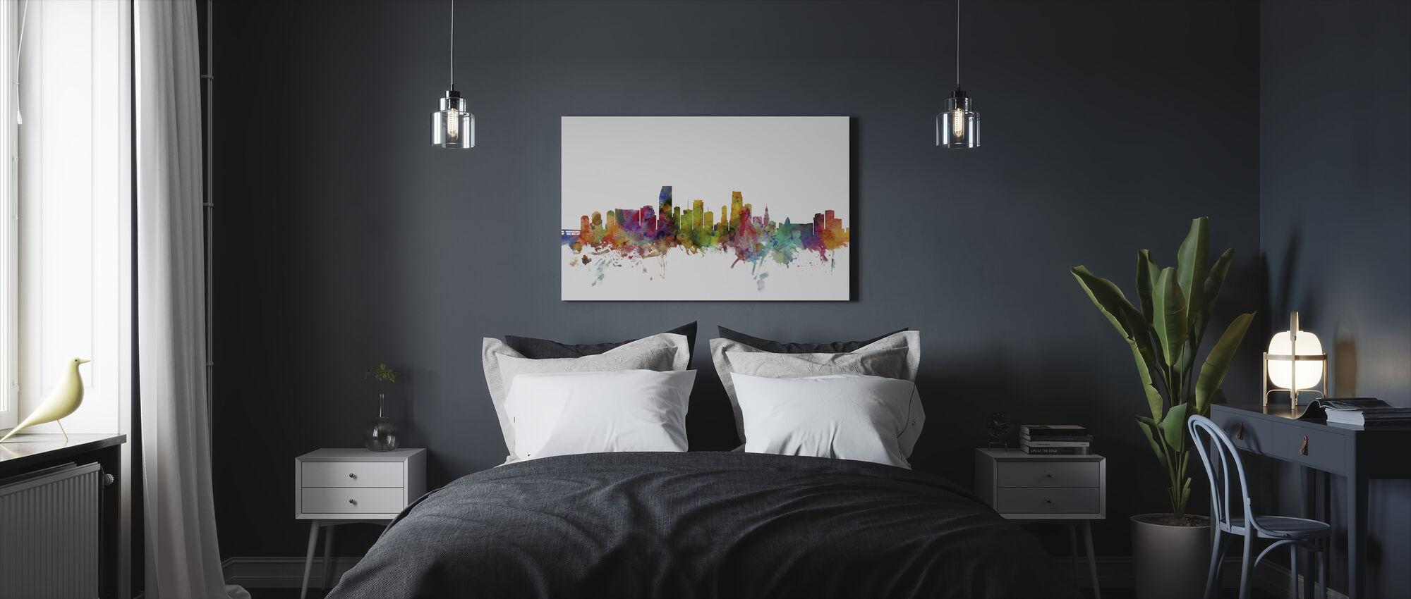 Miami Florida Skyline - Canvas print - Bedroom