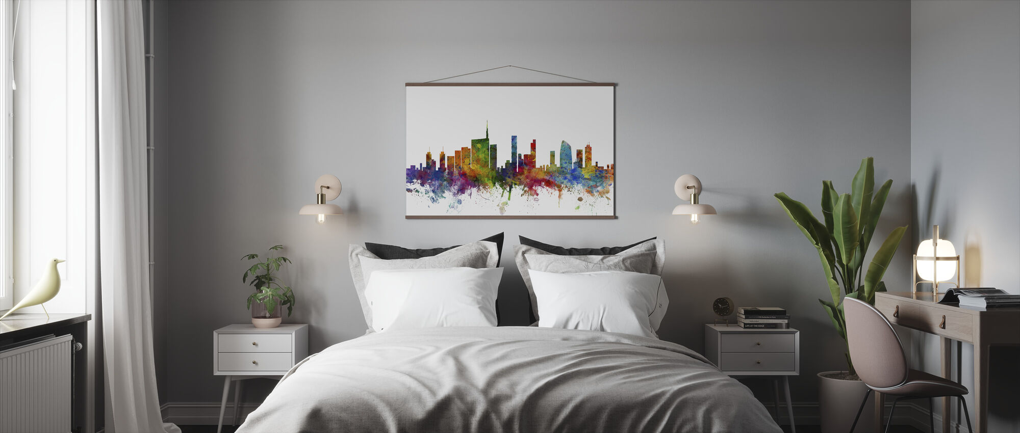 Milan Skyline - Poster - Bedroom