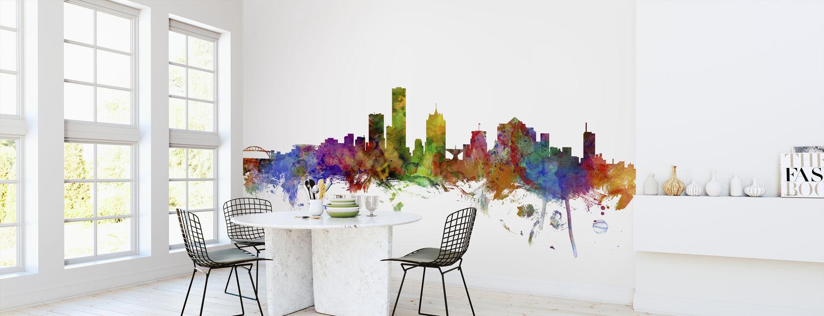 Milwaukee Wisconsin Skyline - Wallpaper - Kitchen