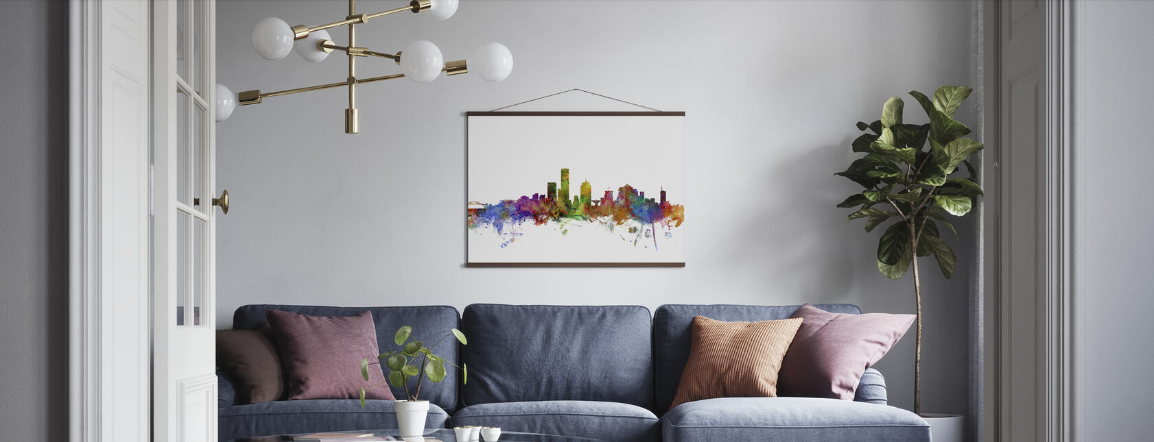Milwaukee Wisconsin Skyline - Poster - Living Room