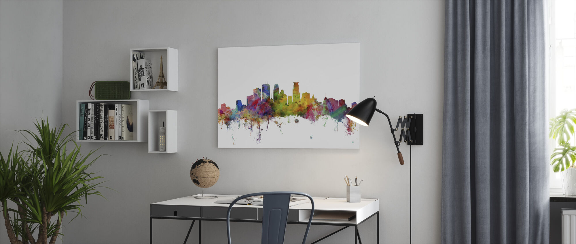 Minneapolis Minnesota Skyline - Canvas print - Office