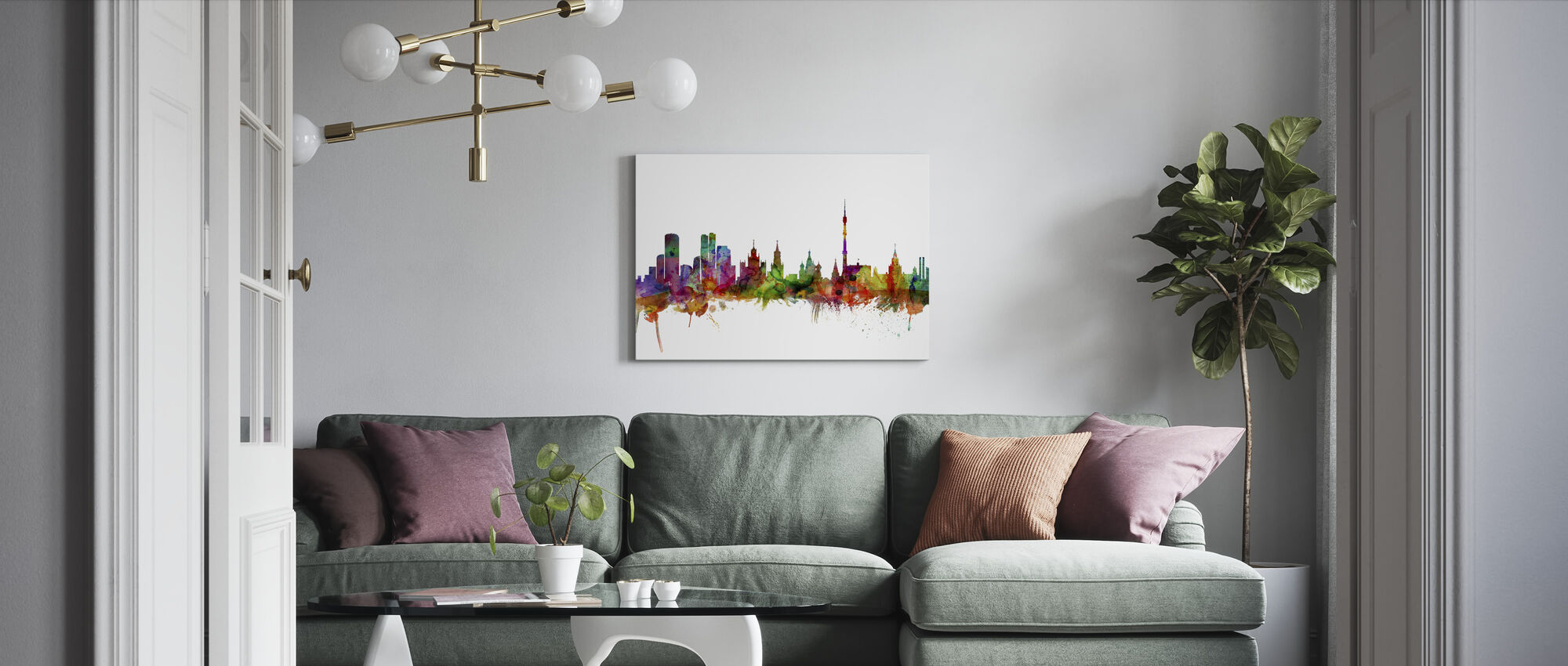 Moscow Skyline - Canvas print - Living Room