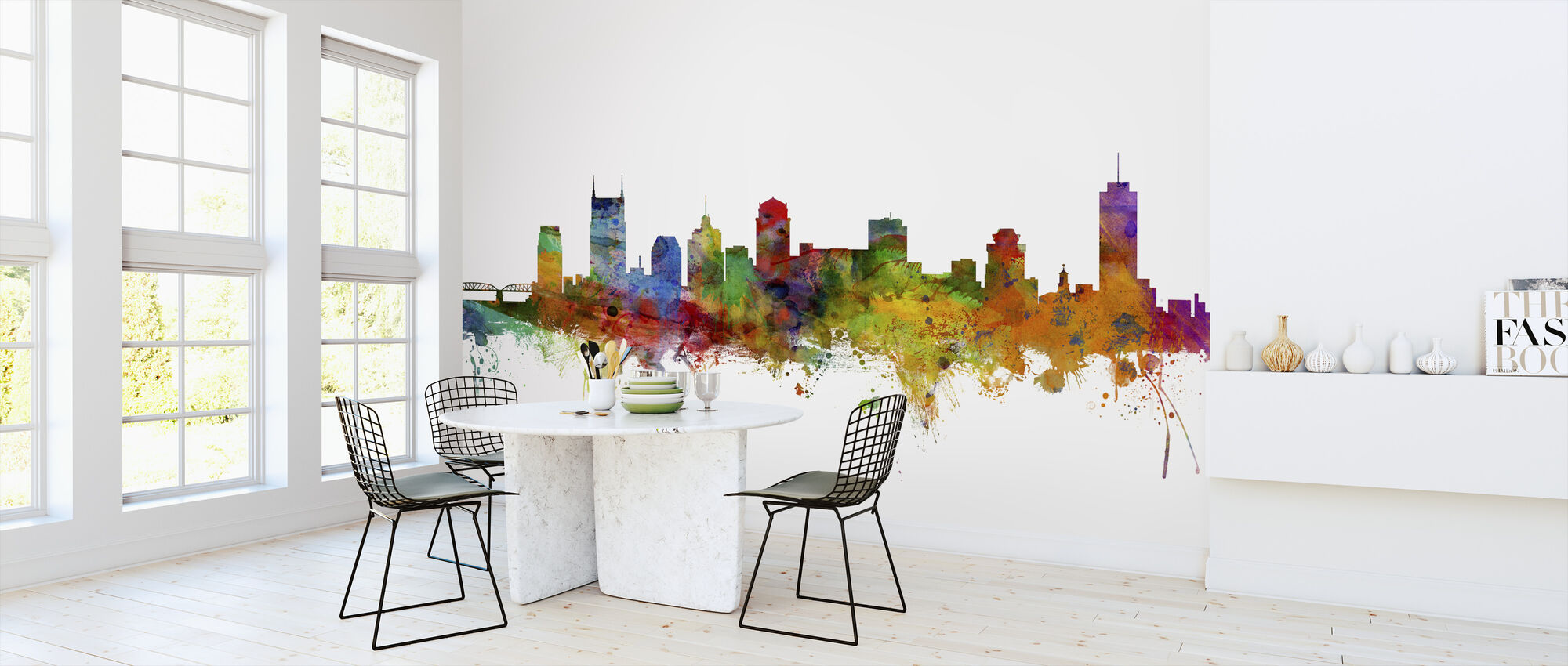 Nashville Tennessee Skyline - Wallpaper - Kitchen