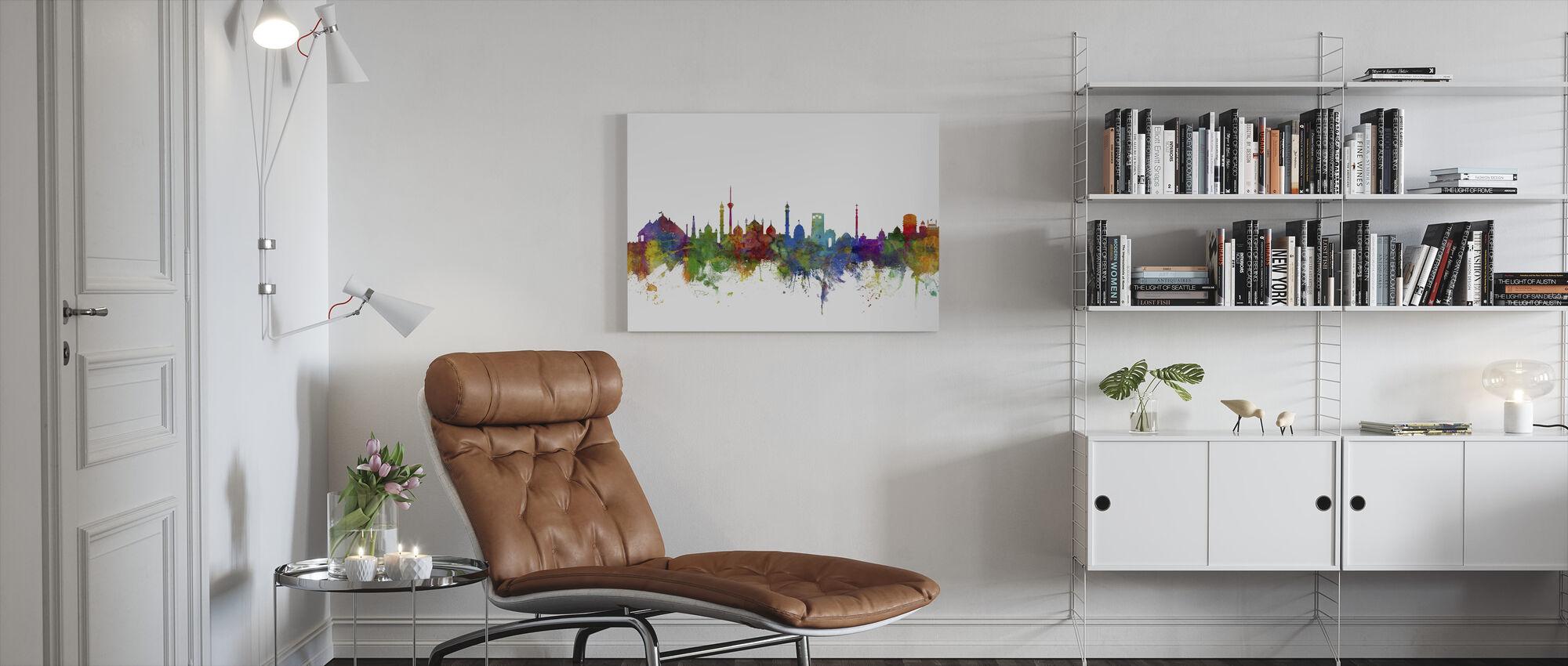 New Delhi Skyline - Canvas print - Living Room
