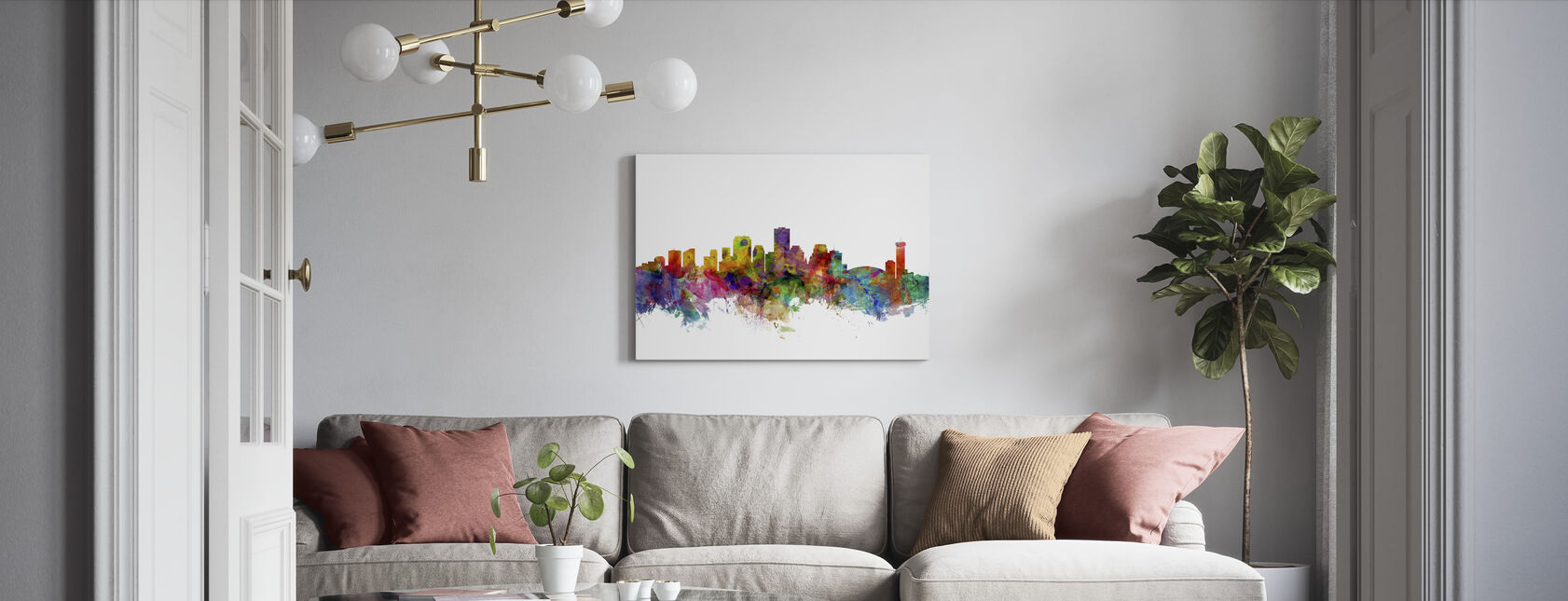 New Orleans Louisiana Skyline - Canvas print - Living Room