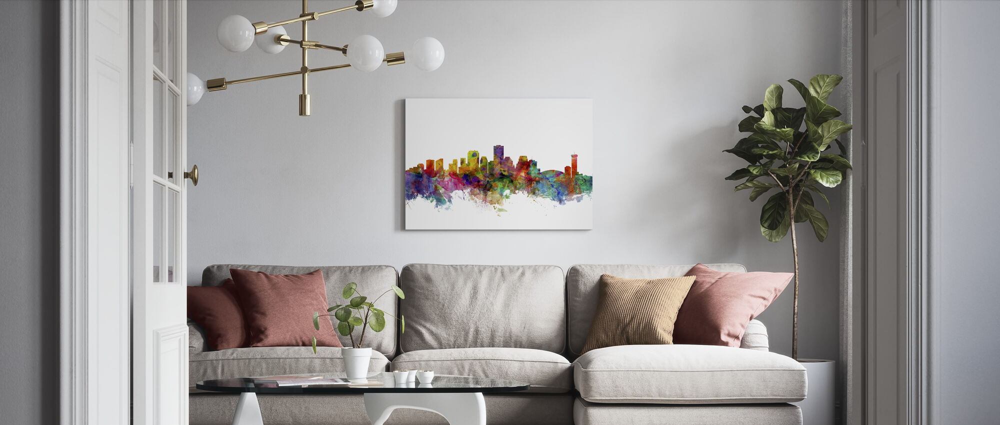 New Orleans Louisiana Skyline - Canvas print - Woonkamer