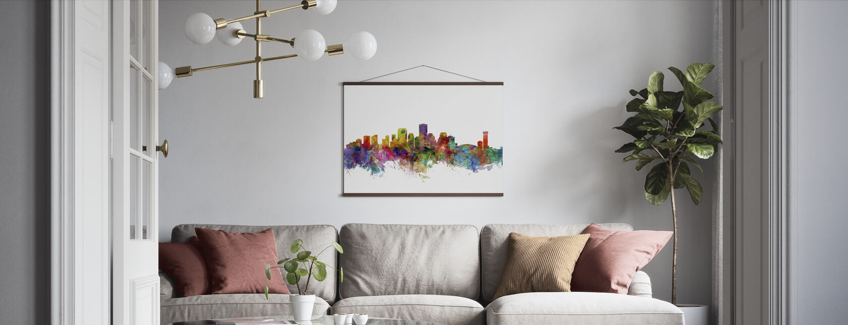 New Orleans Louisiana Skyline - Poster - Woonkamer
