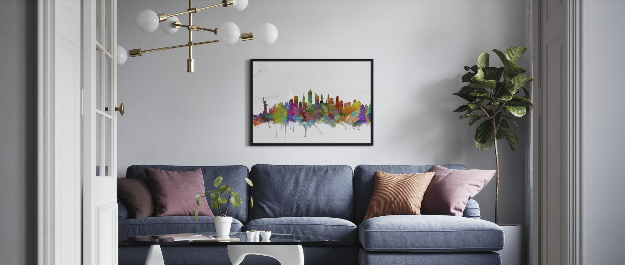 New York Skyline 2 - Framed print - Living Room