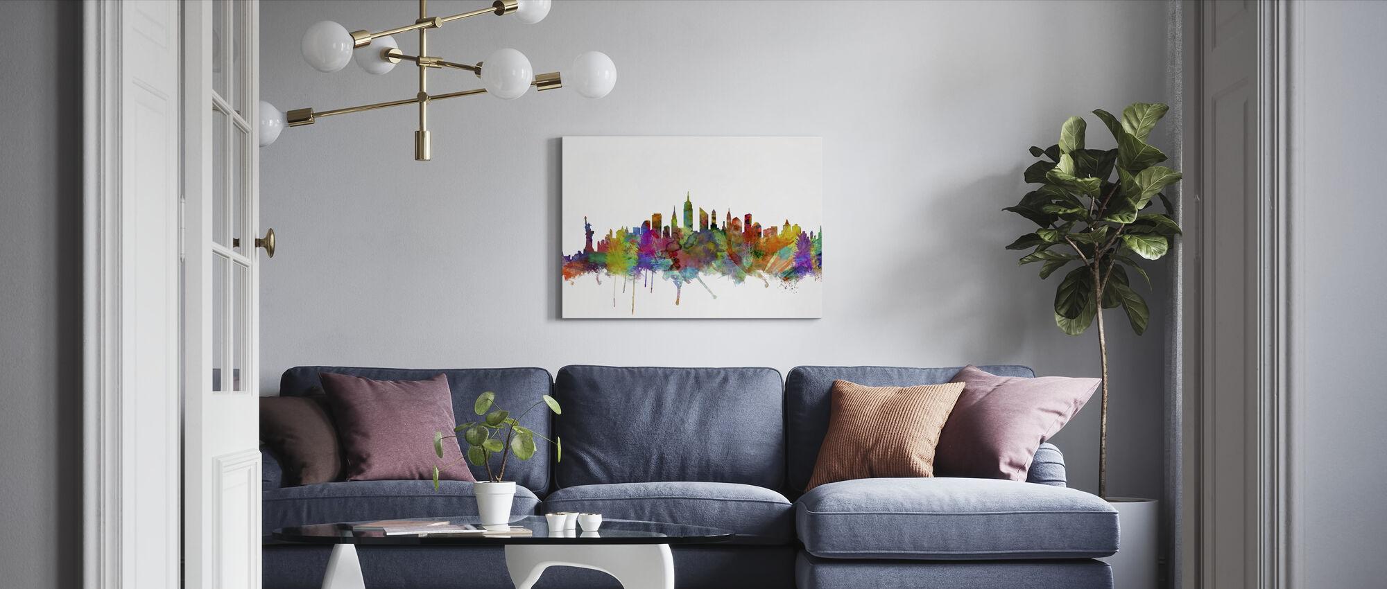 New York Skyline 2 - Canvas print - Living Room