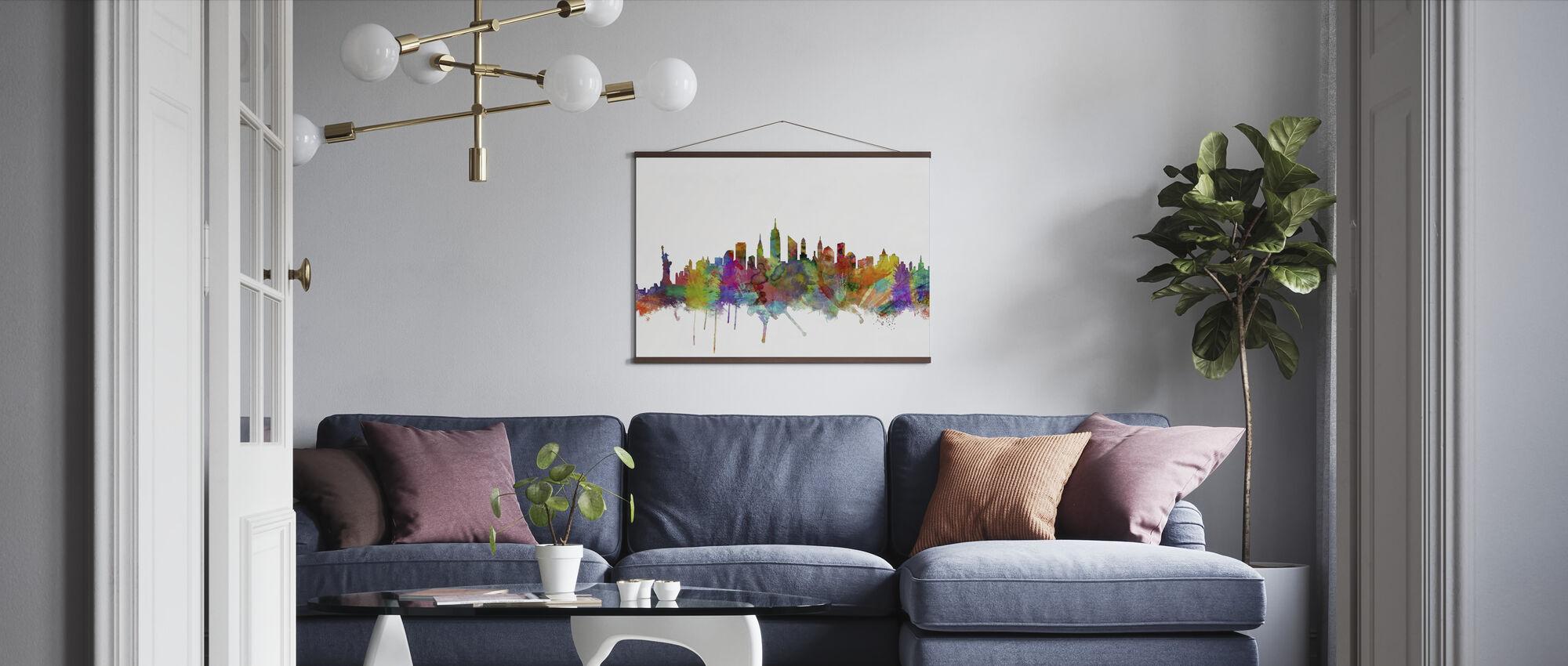 New York Skyline 2 - Poster - Living Room