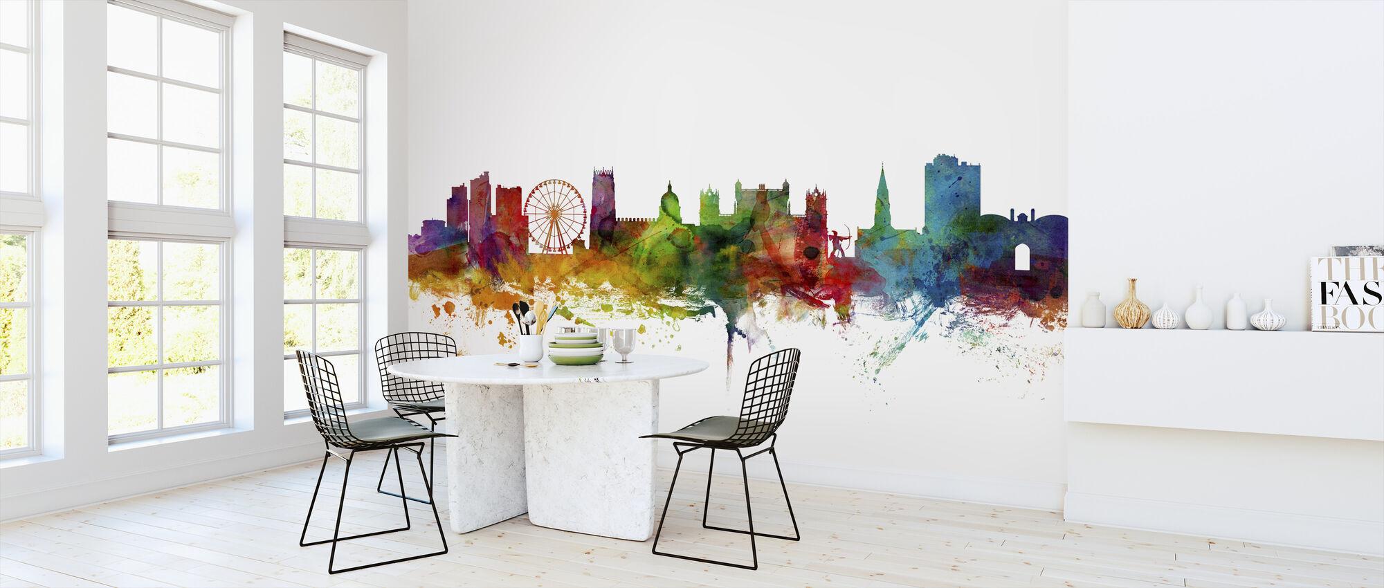 Nottingham England Skyline - Wallpaper - Kitchen