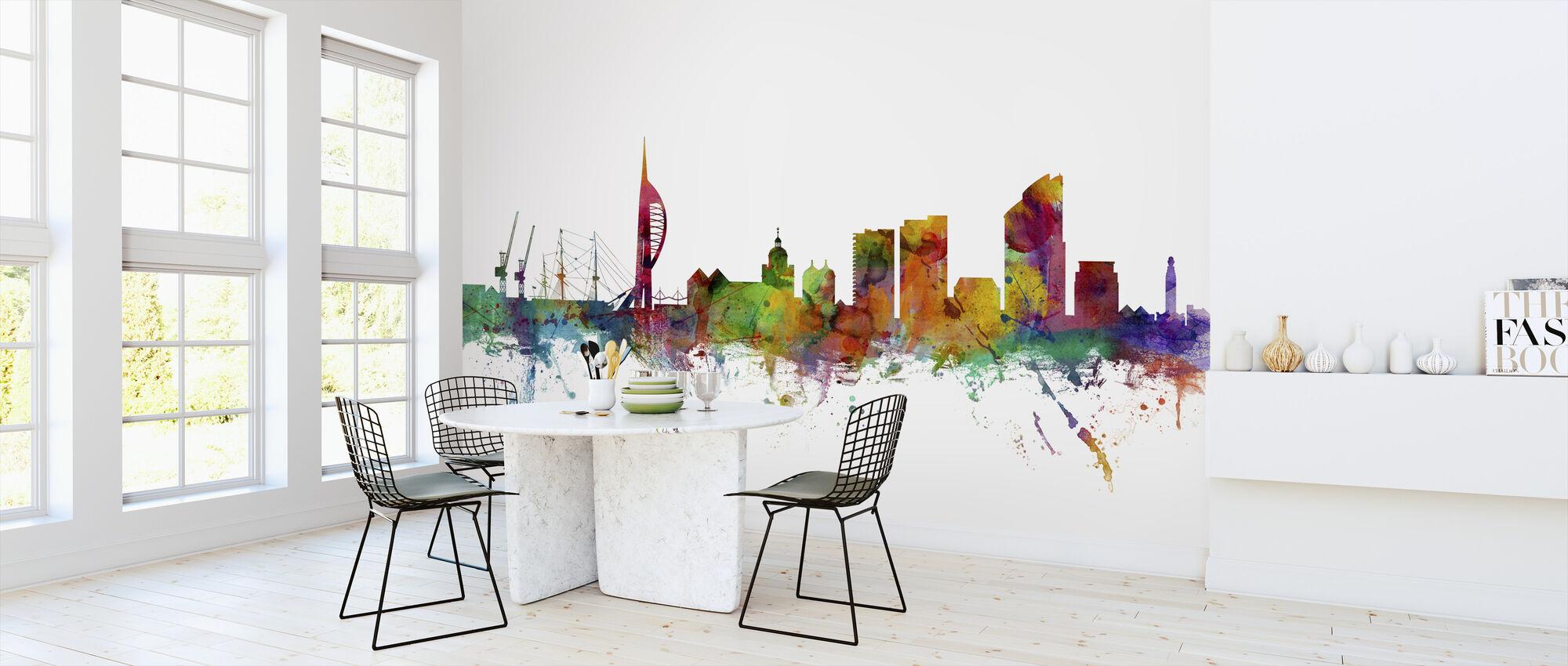 Portsmouth England Skyline - Wallpaper - Kitchen