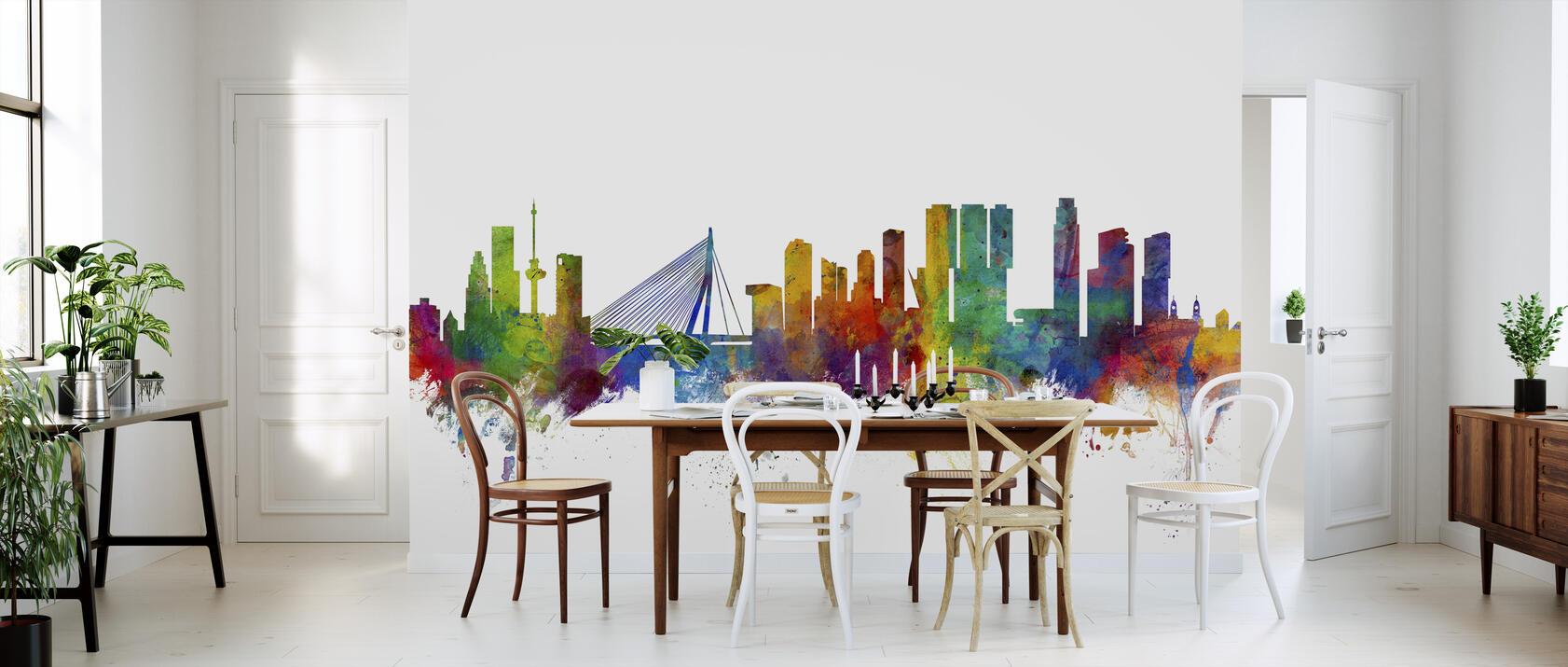 rotterdam skyline kostenlos gelieferte fototapete von. Black Bedroom Furniture Sets. Home Design Ideas