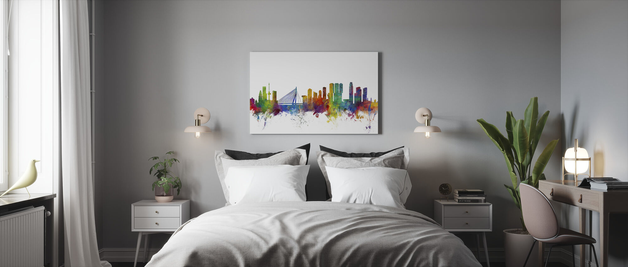 Rotterdam Skyline - Canvas print - Bedroom