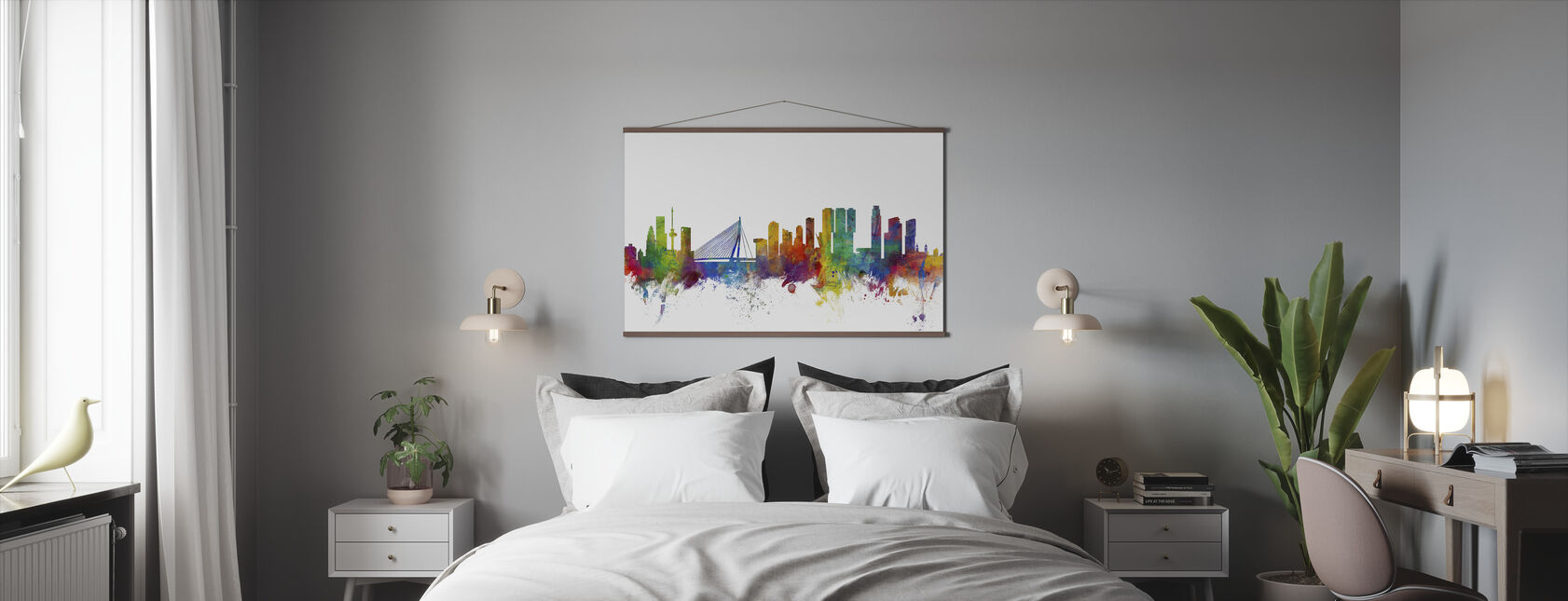 Rotterdam Skyline - Poster - Slaapkamer