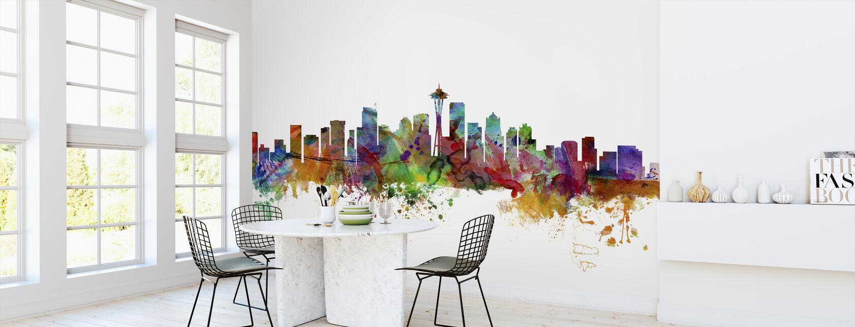 Seattle Washington Skyline - Wallpaper - Kitchen